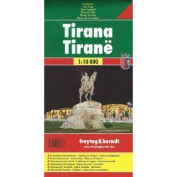 Tirana térkép Freytag & Berndt 1:10 000