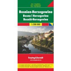 Bosznia térkép Freytag & Berndt 1:200 000  2018 Bosznia-Hercegovina térkép Top 10 AK 0720