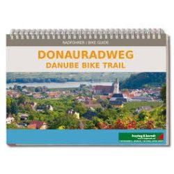 Donauradweg kerékpáros atlasz Freytag 1:125 000  Passau-Pozsony szakasz  Duna kerékpáros térkép