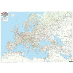 Európa vasúti térképe, Európa falitérkép  1:5 500 000  2017  124 x 90 cm