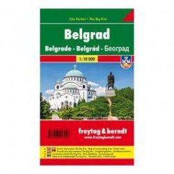 Belgrád térkép Freytag 1:10 000 Pocket zsebtérkép vízálló
