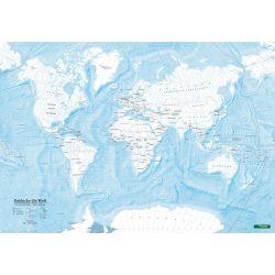 Világ országai falitérkép Freytag színező világtérkép, 1:40 000 000  2018  100x70 cm világ országai vaktérkép