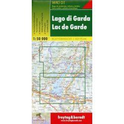 WKI 01 Garda-tó turista térkép Freytag 1:50 000 Garda tó, Gardasee térkép