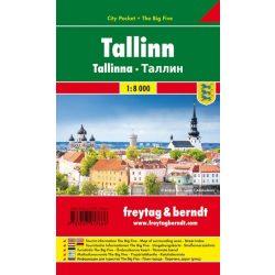 Tallinn térkép Freytag Pocket fóliás 1:10 000   2018