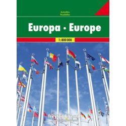 Európa atlasz Freytag & Berndt 1:800 000 2018 Rejtett spirálkötés