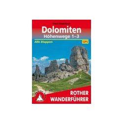 Dolomiten Höhenwege 1 – 3 túrakalauz Bergverlag Rother német   RO 3103