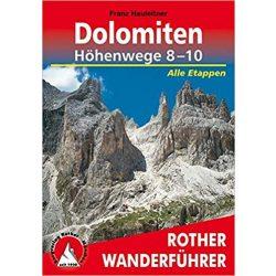 Dolomiten Höhenwege 8 – 10 túrakalauz Bergverlag Rother német   RO 3368
