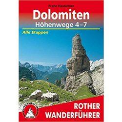 Dolomiten Höhenwege 4 – 7 túrakalauz Bergverlag Rother német   RO 3369