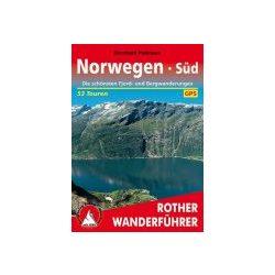 Norwegen Süd túrakalauz Bergverlag Rother német   RO 4002