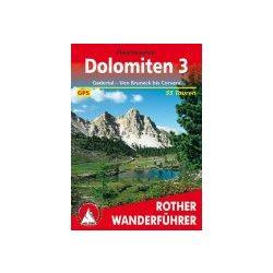 Dolomiten 3 – Gadertal von Bruneck bis Corvara túrakalauz Bergverlag Rother német   RO 4060