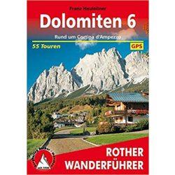 Dolomiten 6 – Rund um Cortina d'Ampezzo túrakalauz Bergverlag Rother német   RO 4063