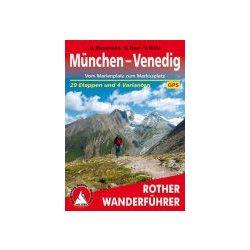 München bis Venedig túrakalauz Bergverlag Rother német   RO 4069