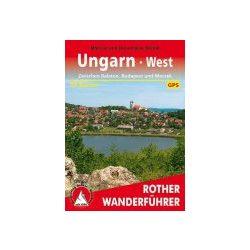 Ungarn West túrakalauz Bergverlag Rother német   RO 4070
