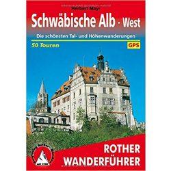 Schwäbische Alb West túrakalauz Bergverlag Rother német   RO 4118