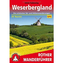 Weserbergland túrakalauz Bergverlag Rother német   RO 4119