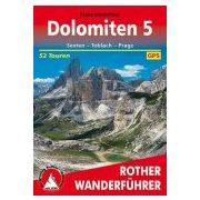 Dolomiten 5 – Sexten I Toblach I Prags túrakalauz Bergverlag Rother német   RO 4199