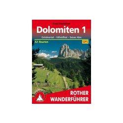 Dolomiten 1 – Grödnertal I Villnößtal I Seiser Alm túrakalauz Bergverlag Rother német   RO 4248