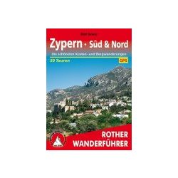 Zypern Süd und Nord túrakalauz Bergverlag Rother német   RO 4271