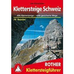 Klettersteige Schweiz túrakalauz Bergverlag Rother német   RO 4305