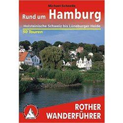 Hamburg, Rund um túrakalauz Bergverlag Rother német   RO 4314