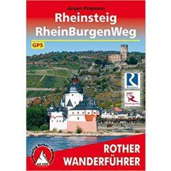 Rheinsteig I RheinBurgenWeg túrakalauz Bergverlag Rother német   RO 4354