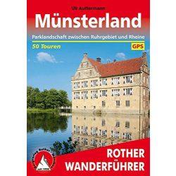 Münsterland túrakalauz Bergverlag Rother német   RO 4380