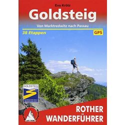 Goldsteig túrakalauz Bergverlag Rother német   RO 4409