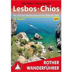 Lesbos I Chios túrakalauz Bergverlag Rother német   RO 4410