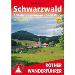 Schwarzwald – Mehrtagestouren Süd I Mitte túrakalauz Bergverlag Rother német   RO 4434
