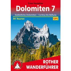 Dolomiten 7 – Südöstliche Dolomiten I Cortina bis Belluno túrakalauz Bergverlag Rother német   RO 4440