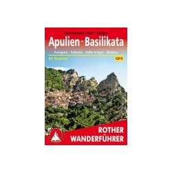 Apulien I Basilikata – Mit Gargano túrakalauz Bergverlag Rother német   RO 4457