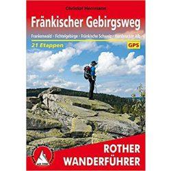 Fränkischer Gebirgsweg túrakalauz Bergverlag Rother német   RO 4463