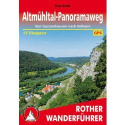 Altmühltal-Panoramaweg túrakalauz Bergverlag Rother német   RO 4470