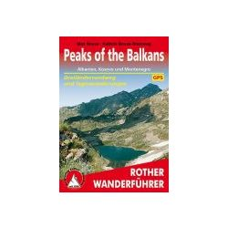 Peaks of the Balkans – Albanien, Kosovo und Montenegro túrakalauz Bergverlag Rother német   RO 4491