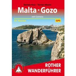 Malta I Gozo túrakalauz Bergverlag Rother német   RO 4516