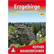 Erzgebirge túrakalauz Bergverlag Rother német   RO 4517