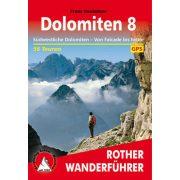 Dolomiten 8 – Südwestliche Dolomiten von Falcade bis Feltre túrakalauz Bergverlag Rother német   RO 4524