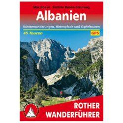 Albanien túrakalauz Bergverlag Rother német   RO 4530