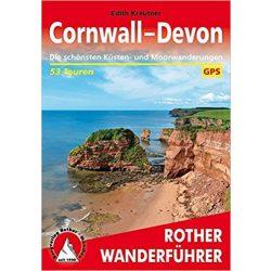 Cornwall I Devon túrakalauz Bergverlag Rother német   RO 4537