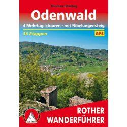 Odenwald – 4 Mehrtagestouren I Mit Nibelungensteig túrakalauz Bergverlag Rother német   RO 4544