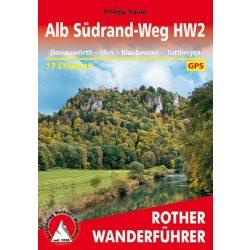 Alb Südrand-Weg HW2 túrakalauz Bergverlag Rother német   RO 4549