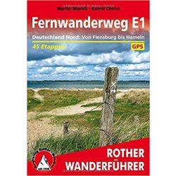 Deutschland Nord – Fernwanderweg E1 túrakalauz Bergverlag Rother német   RO 4551