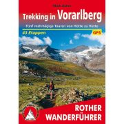 Vorarlberg, Trekking in túrakalauz Bergverlag Rother német   RO 4555