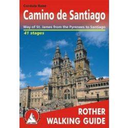 Camino de Santiago túrakalauz Bergverlag Rother angol   RO 4835