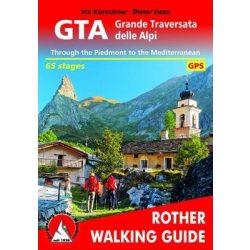 GTA – Grande Traversata delle Alpi túrakalauz Bergverlag Rother angol   RO 4839