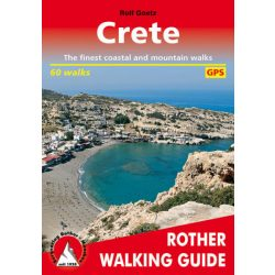 Crete túrakalauz Bergverlag Rother angol   RO 4840