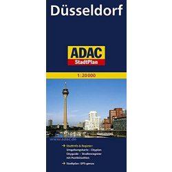 Düsseldorf térkép ADAC  1:20 000