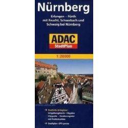 Nürnberg térkép ADAC 1:20 000