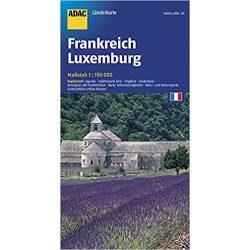 Franciaország térkép ADAC 1:700 000 Luxemburg térkép