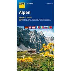 Alpok térkép ADAC 2013 1:750 000
